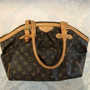 """LOUIS VUITTON Monogram Canvas/Leather Trim """"Tivoli GM"""" Shoulder/Hand Bag"""